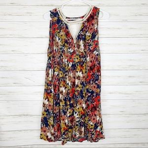 Umgee | Floral Keyhole Swing Dress